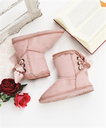 Wool lace up boot(Pale pink-S)