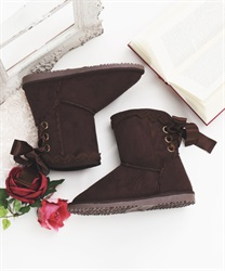 Wool lace up boot(Brown-S)