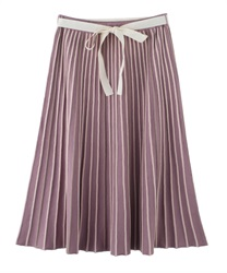 Striped part Knit Skirt(Pale pink-Free)