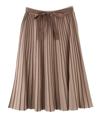 Striped part Knit Skirt(Beige-Free)