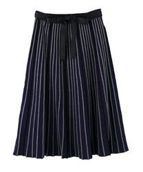 Striped part Knit Skirt(Navy-Free)