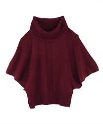 Turtle knit pullover(Wine-Free)