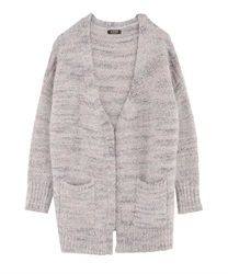 Fluffy knit cardigan(Pale pink-Free)