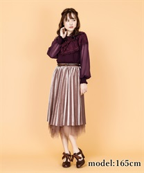 【2Buy10%OFF】Velor reversible skirt(Brown-Free)