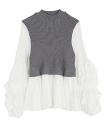 Layered style tops(Grey-Free)