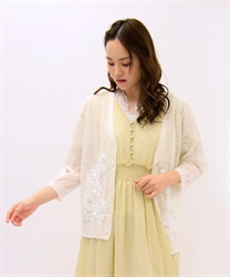 Flower Embroidery Sheer Cardigan