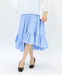 Stripe irregular hem Skirt