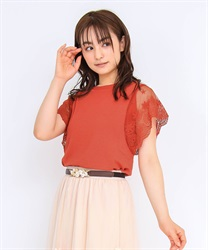 Lace knit PO(Red-Free)