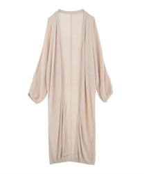 Sheer Long Cardigan(Beige-Free)