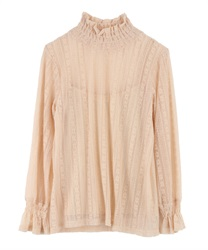 Lace pullover(Beige-Free)