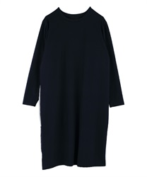 Side switching dress(Navy-Free)