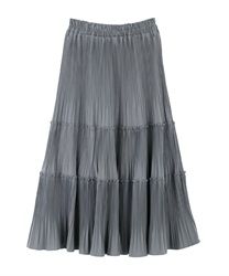 Pleated skirt(Grey-Free)