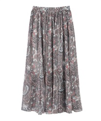 Paisley skirt(White-Free)