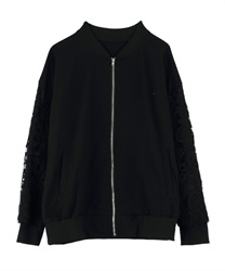 Blouson with sleeve lace(Black-Free)