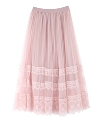 Lace and tulle SK(Pale pink-Free)