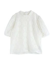 Floral Lace Pullover(White-M)