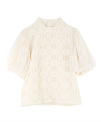 Floral Lace Pullover(Beige-Free)