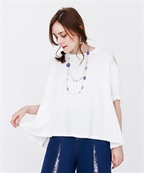 【2Buy20%OFF】Lace Cut PO with pearl sleeves(White-Free)