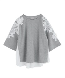 【2Buy20%OFF】Three-dimensional Asime Lace Cut PO(Grey-Free)