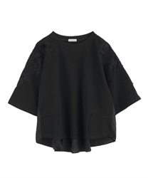 【2Buy20%OFF】Three-dimensional Asime Lace Cut PO(Black-Free)