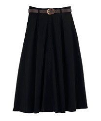 Before with Belt button Skirt(Black-Free)