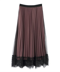 Reversible Accordion Skirt(Pale pink-M)