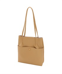 Shoulder bag with front pocket(Beige-M)