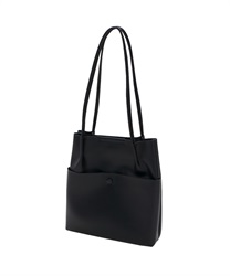 Shoulder bag with front pocket(Black-M)