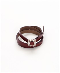 Petit Bijoux Buckle Belt(Brown-M)