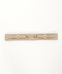 Rubber belt in bit(Beige-M)