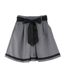 Front button design culottes(Grey-Free)