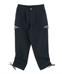 Pocket Embroidery Cargo Pants(Navy-M)
