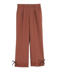 Tapered pants with a tapered hem(Orange-Free)