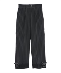Tapered pants with a tapered hem(Black-Free)