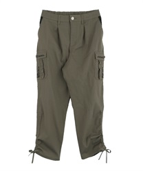 Pocket Embroidered Cargo Pants
