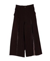 Lace wide pant(Dark brown-Free)