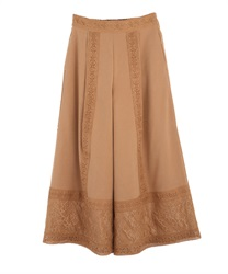 Lace line flare pant(Camel-Free)
