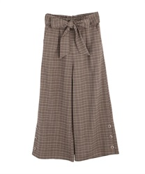 Button design wide pant(Brown-Free)