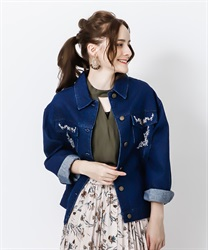 【Global Price】Oversized jacket(Indigo-Free)