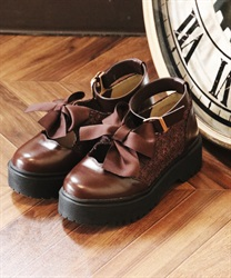 Platform shoes(Brown-S)