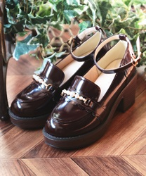 Pearl loafer pumps(Brown-S)