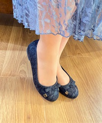 Ribbon Ballet Flats(Black-S)