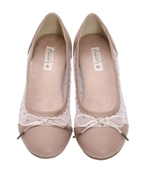 【Global Price】Tulle Ballet Pumps(C-S)