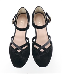 Embroidered Separate Pumps(Black-S)