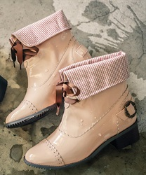【Global Price】Flip-flop rain boots(Pale pink-S)