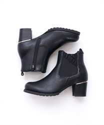 Frilled Rubber Side Gore Boots(Black-S)