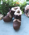Fur boot with embroidery(Dark brown-S)