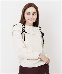 W lace-up off total knit