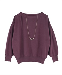 Washable dolman knit(Purple-Free)