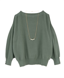 Washable dolman knit(Green-Free)